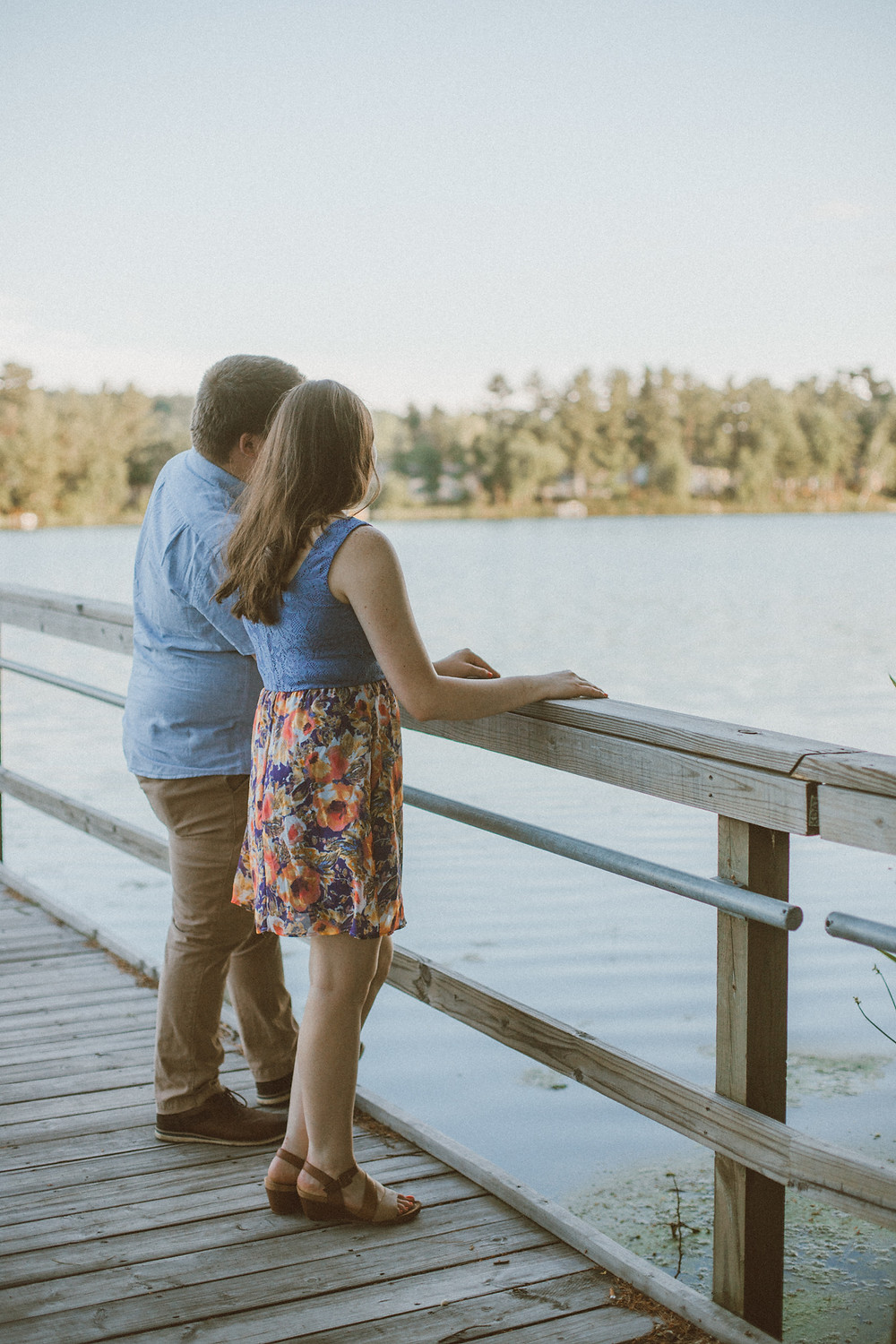 Lifestyle engagement session at South Park in Waupaca, WI.