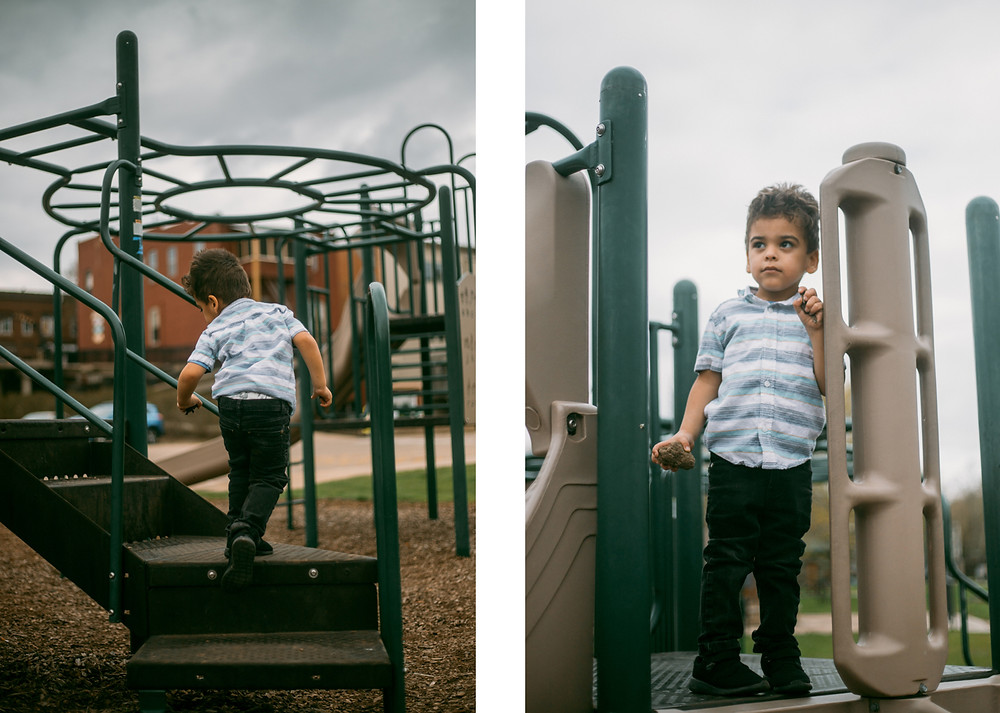 Family lifestyle photography session at the park.