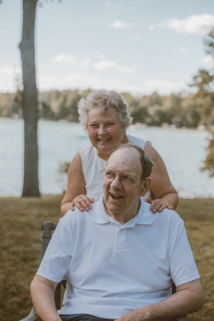 Older couple smiling. Lifestyle Photography by Anna Gutermuth.