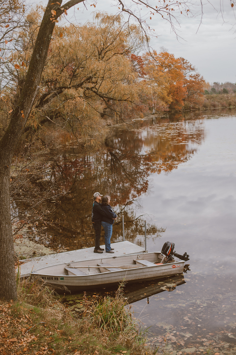 Couple celebrating their 50th anniversary at their lakeside home in Manawa, WI. Lifestyle Photography by Anna Gutermuth.