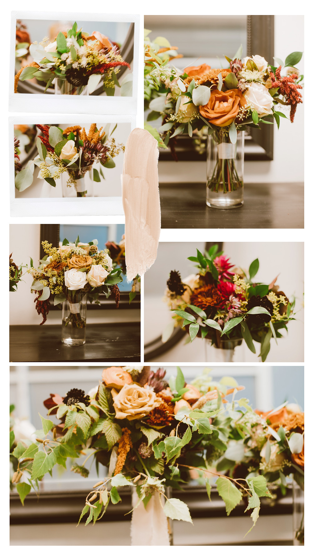 Wedding flowers by Branching Out and Company, Appleton, WI.