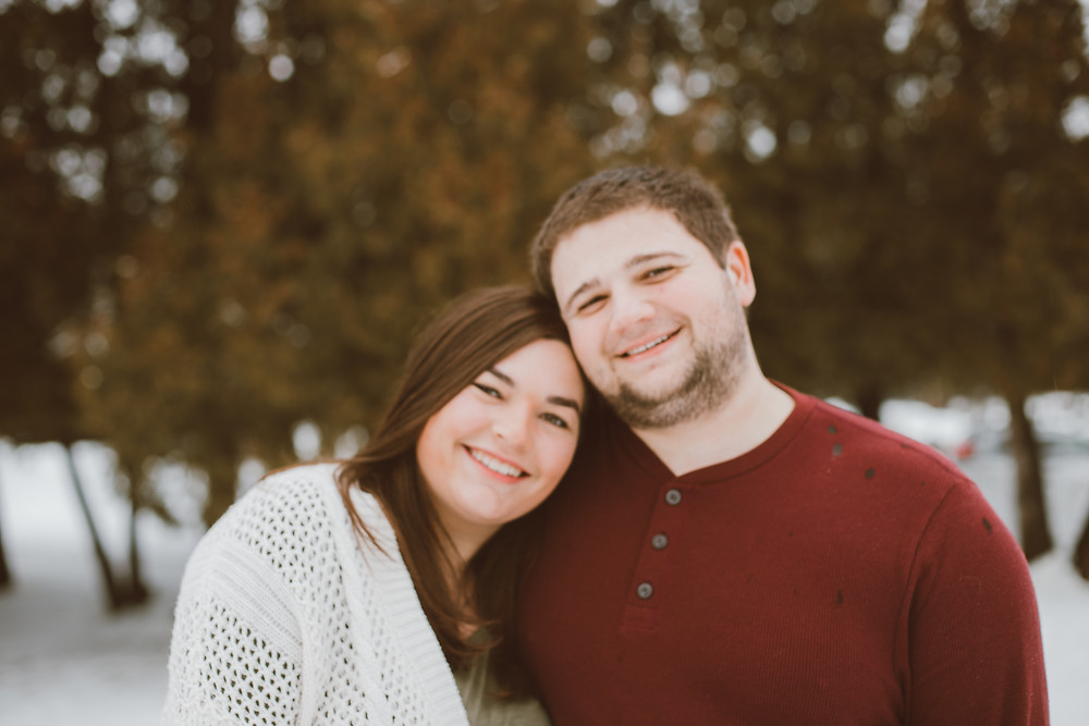 Lifestyle engagement photography by Anna Gutermuth at Pamperin Park in Green Bay, WI.