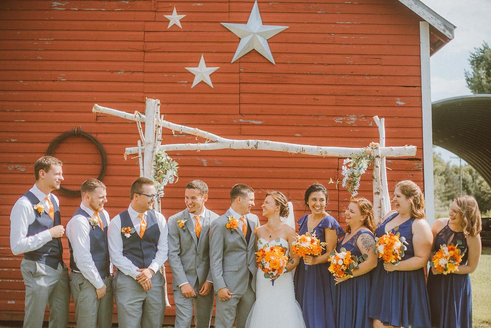 Traditional, rustic barn wedding in Waupaca, WI.