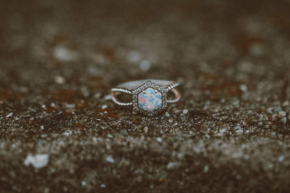 Moonstone engagement ring. Lifestyle engagement photography by Anna Gutermuth.