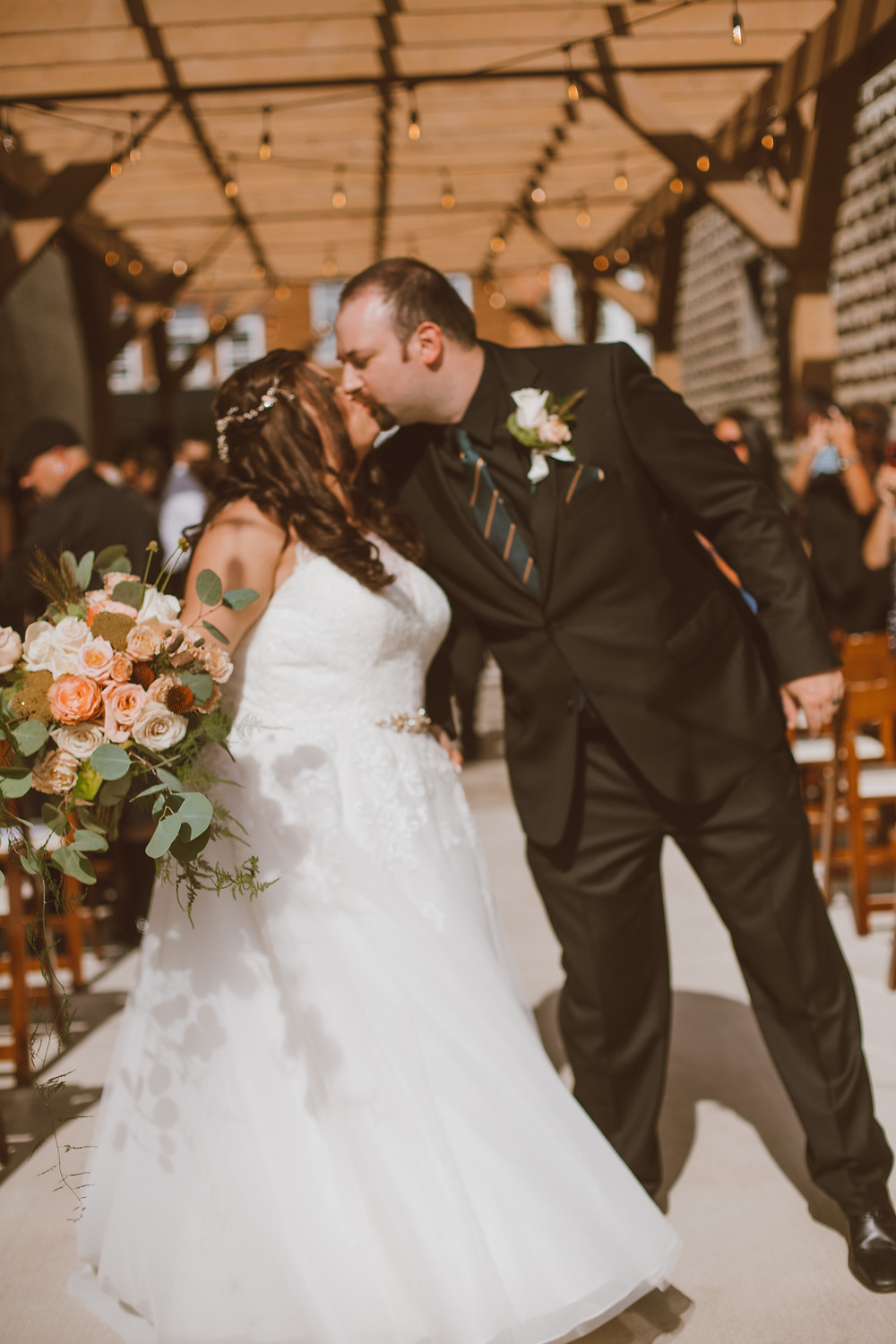 Modern, urban wedding at Mercantile Hall in Burlington, WI.
