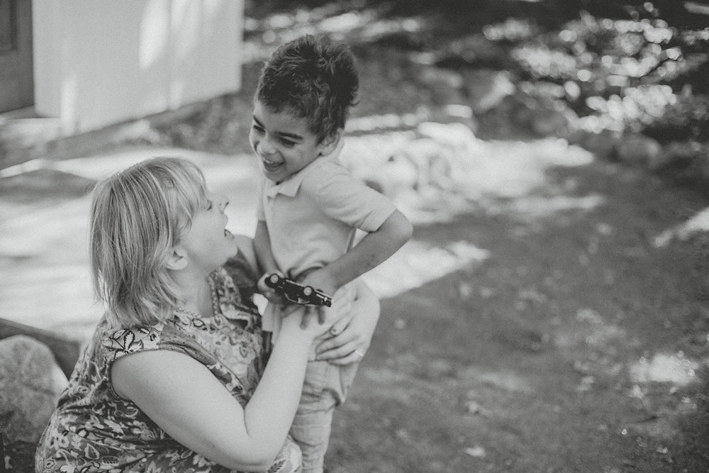 Lifestyle family session at Red Mill in Waupaca, WI. Photography by Anna Gutermuth.