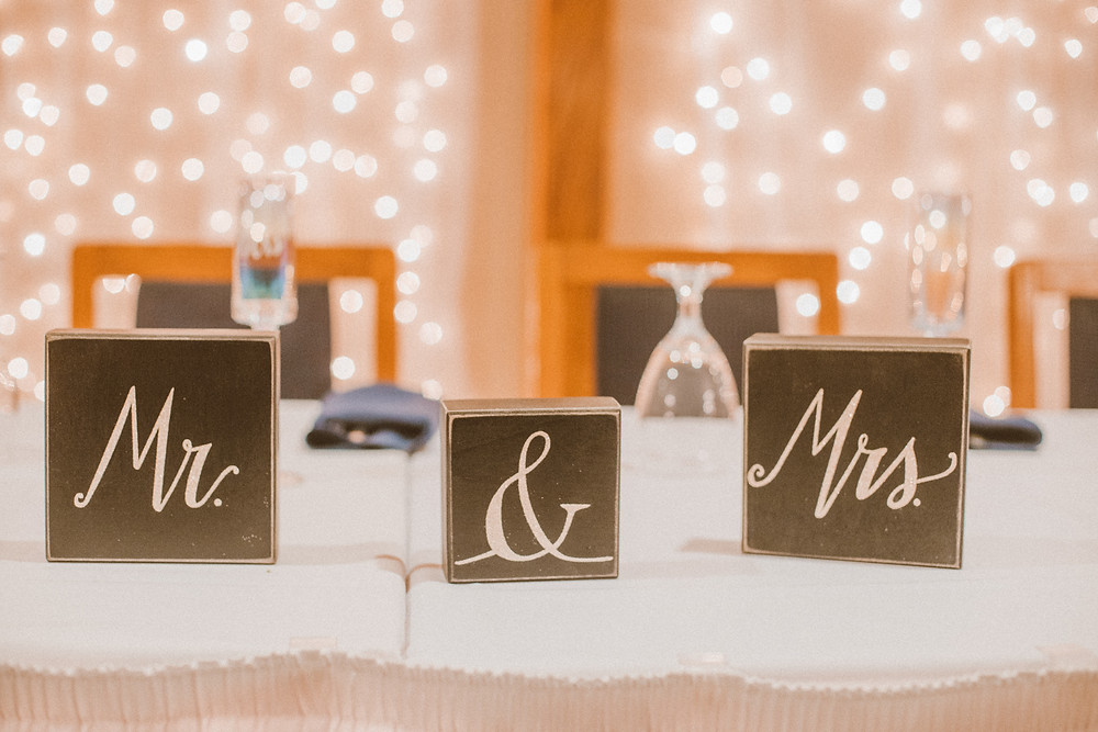 Romantic wedding reception at Eddie Whipp's Dining Hall in Green Bay, WI.
