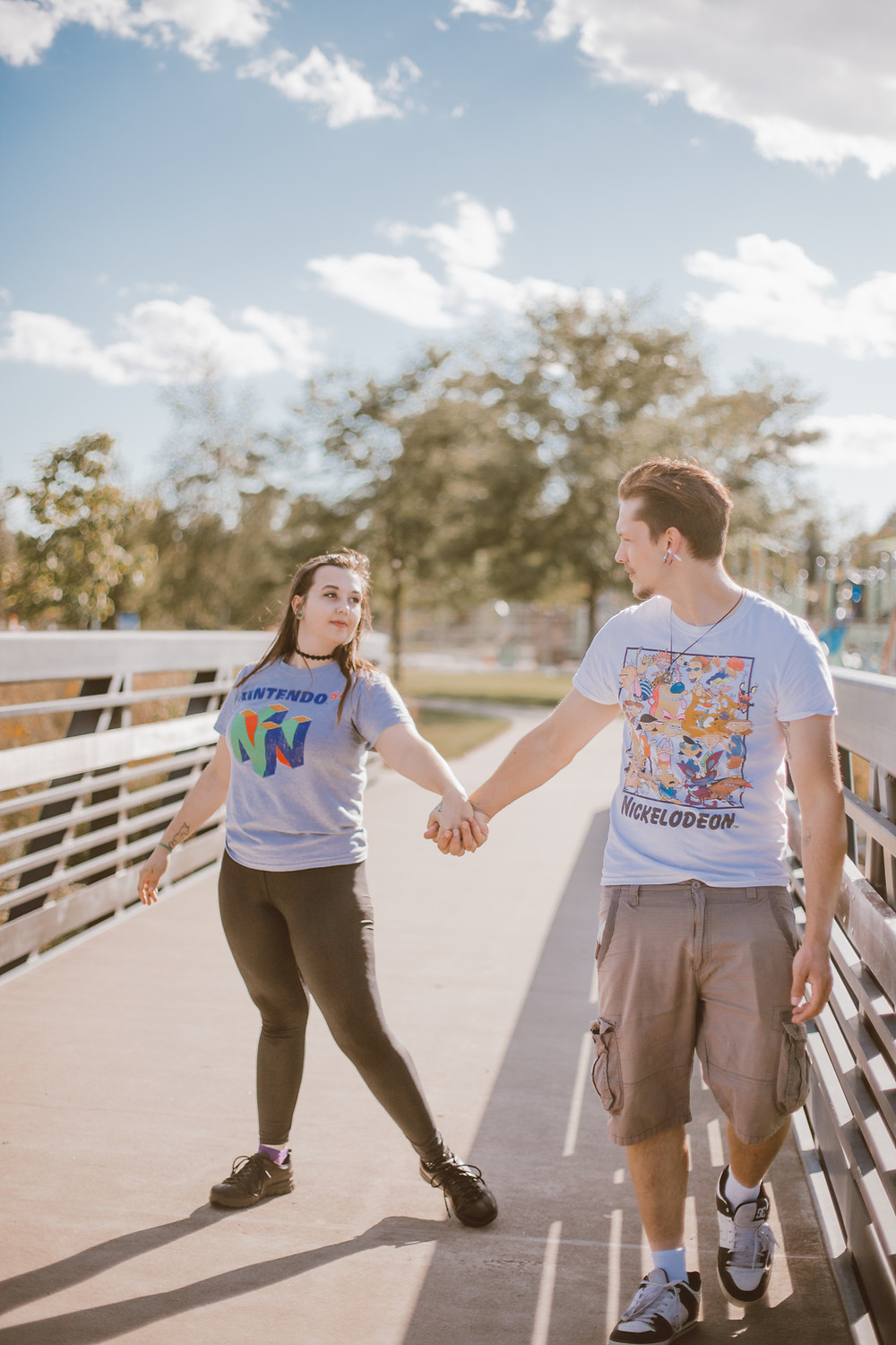 Lifestyle couples photography at Memorial Park in Appleton, WI.