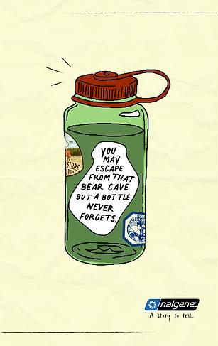 Nalgene Bear Bottle Poster