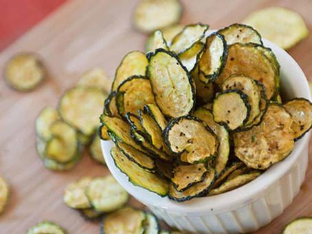 Chips de courgette au sel et vinaigre au deshydrateur