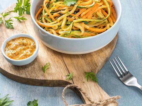Pâte de courgettes et carottes🥒 à la sauce curry 😃 revisitée