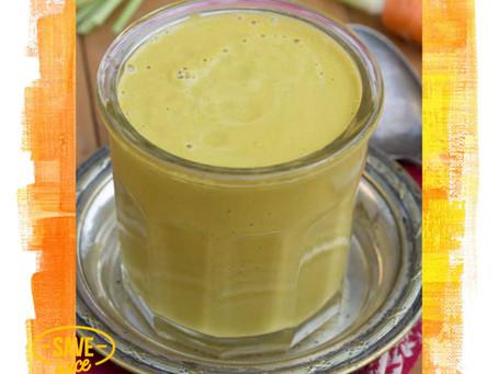 🍲 Soupe toute crue aux carottes, noix de cajou et gingembre 🥕🌿