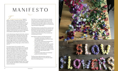 SLOW FLOWERS Manifesto