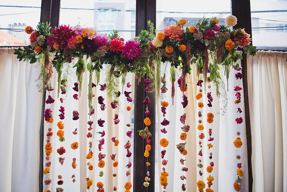 Floral curtain by Molly Oliver Flowers