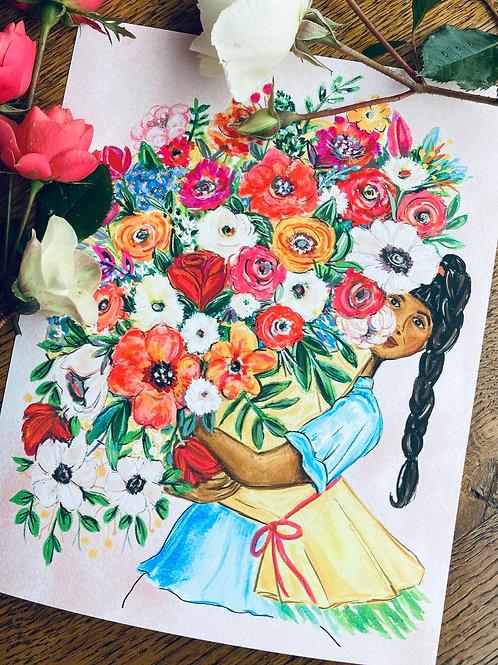American Flowers Week Art Print
