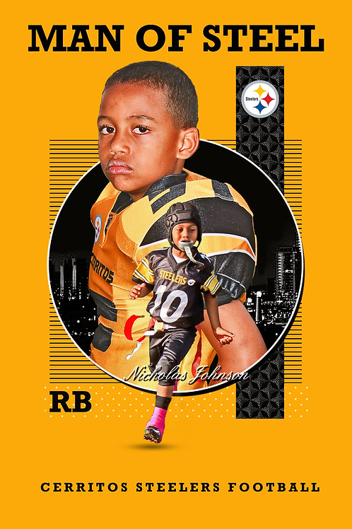 Steeler Gold background