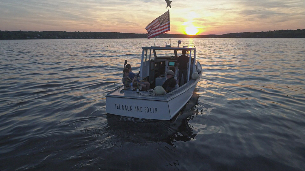 Sunset and lobster cruise on the back and forth belfast maine