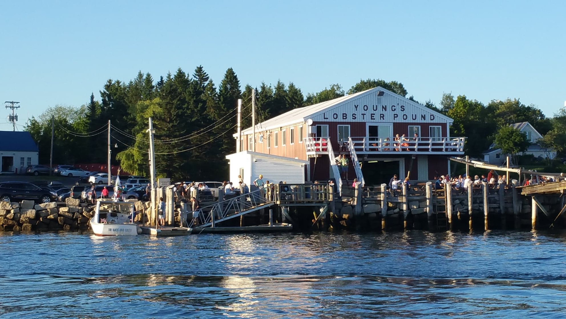 The back and forth at Youngs Lobster Pound
