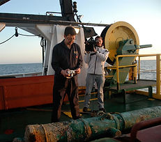 6.Neil documenting HMS Victory cannon 17