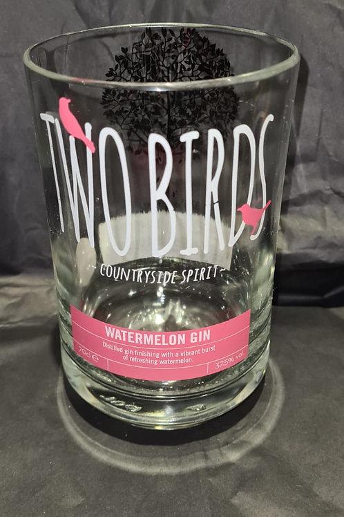 Two Birds Watermelon Gin Glass