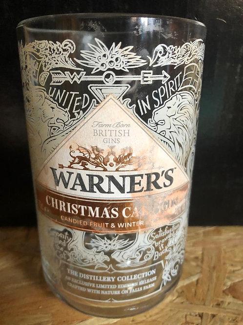 Warners Christmas Gin Glass