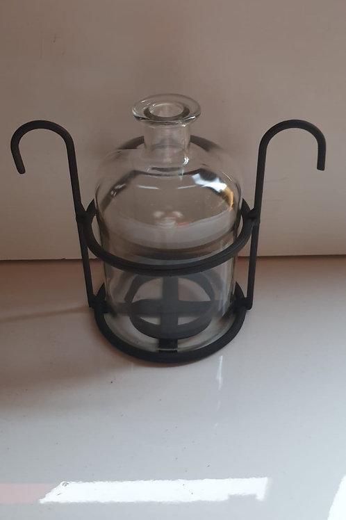 Plain Glass Double Ring Table Light