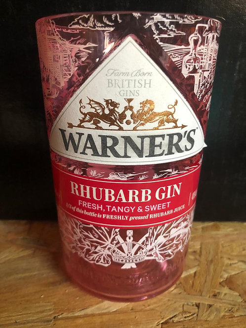 Warners Rhubarb Gin Glass (New Style)