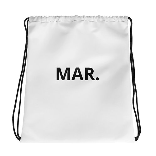 MAR. Drawstring bag