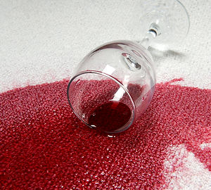 red wine stain