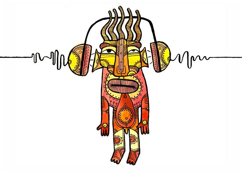 Melomaniac / Artistic postcard