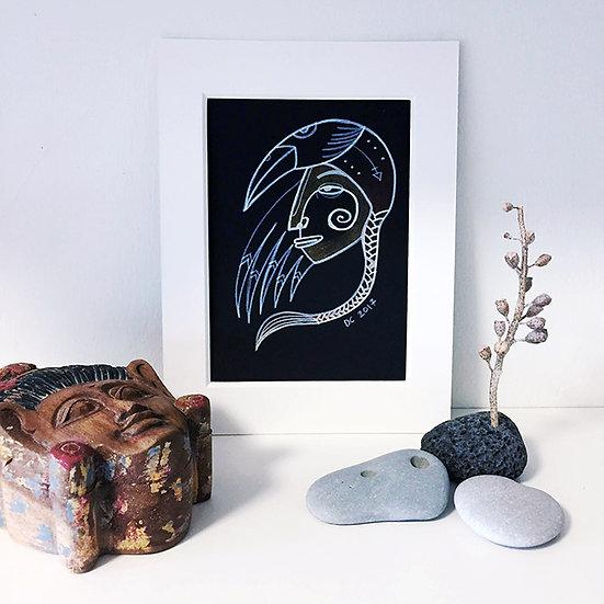 Bird-woman / Original drawing