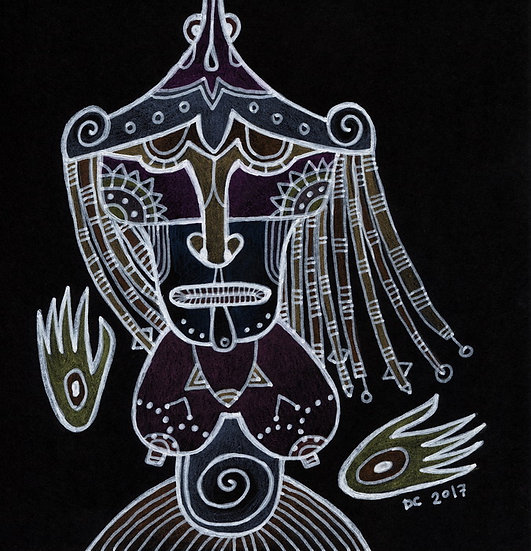 She's a shaman / Original drawing