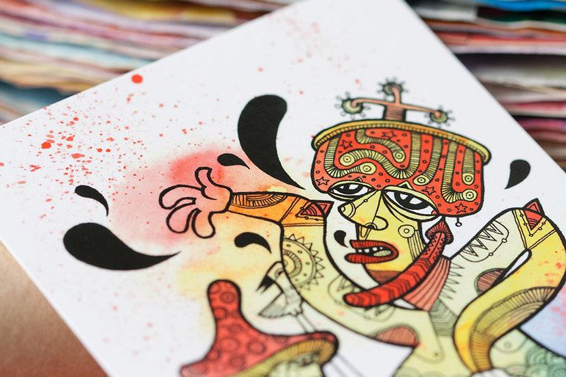 Mushroom Kamasutra / Artistic postcard