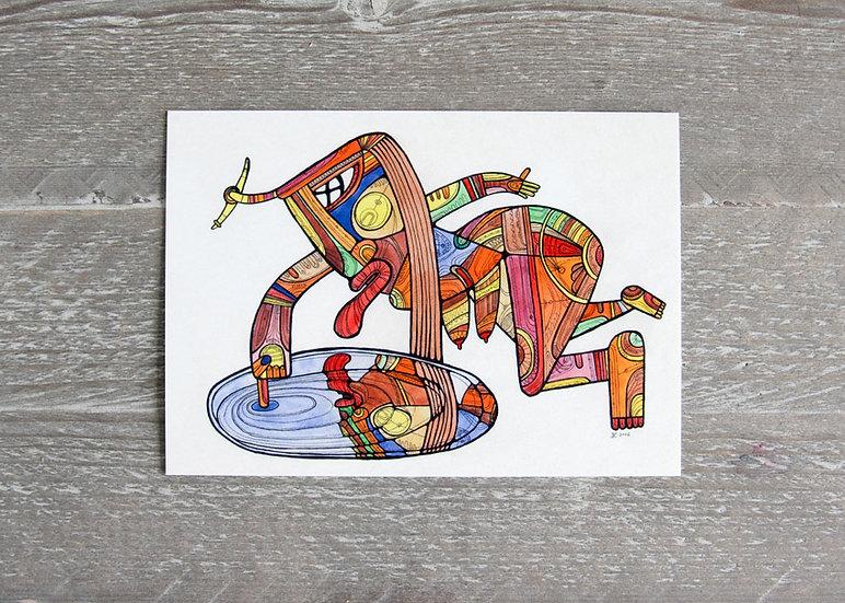 Mirror / Artistic postcard