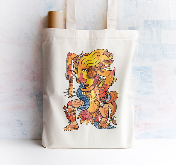 Lion-Hunter Tote Bag