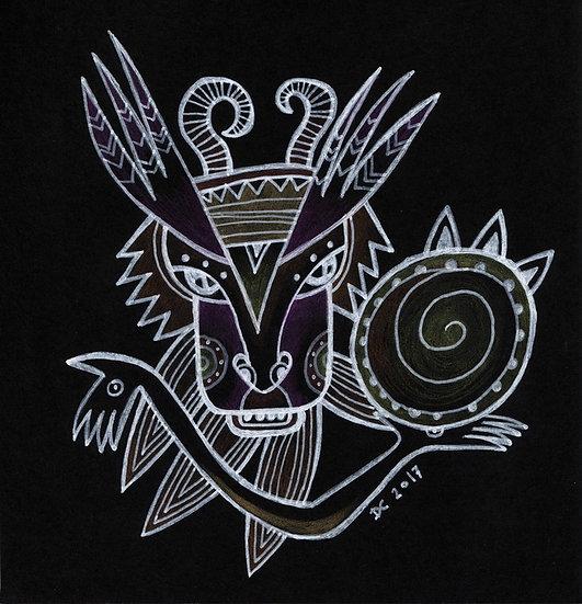 Beat of the tambourine / Original drawing