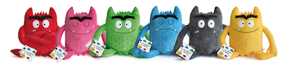 Plush Color Monster emotions, toys, teddies