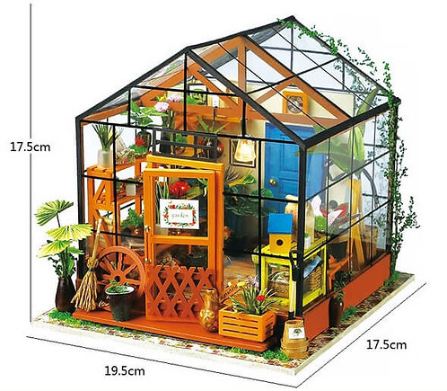Miniature DIY Greenhouse hobby kit