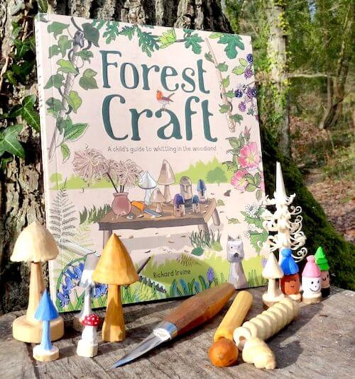 Forest craft book. Richard Irvine. Outdoor crafts. Wood whittling.