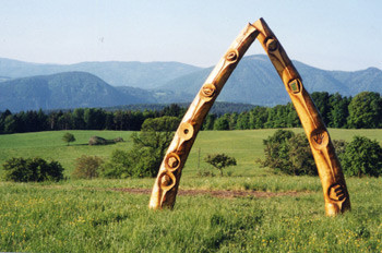 Wooden archway by Robert Jakes. The land of storytelling.