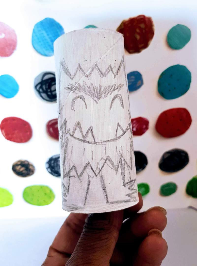 The Colour Monster craft activity. What Children Really Want. Easy toilet roll craft for kids.