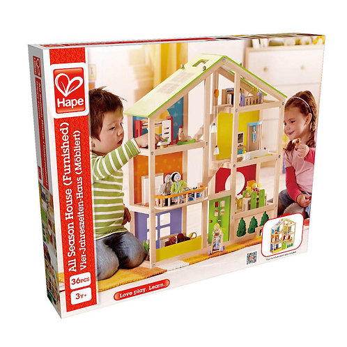 All Seasons Wooden Doll House