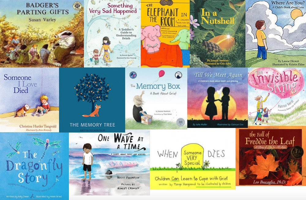 Books for kids about grief, bereavement, death, loss