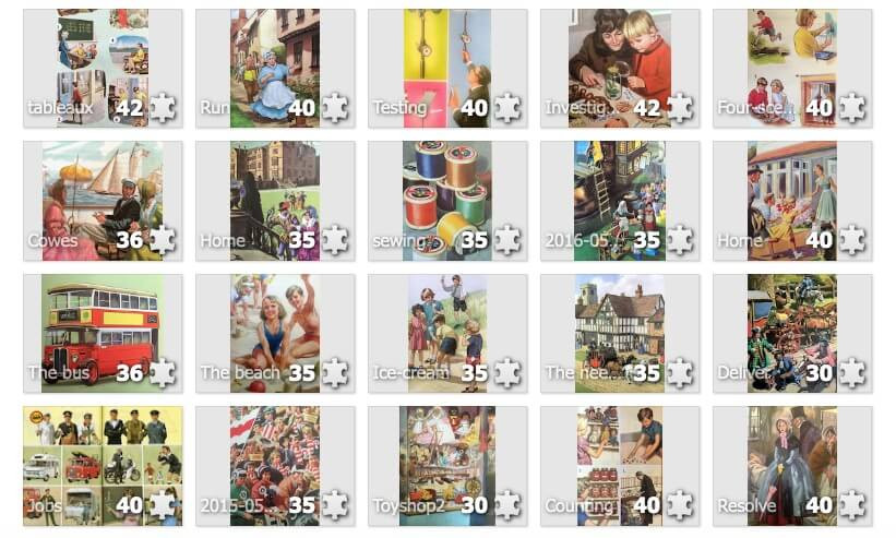 What children Really Want. Ladybird books. Online puzzles.