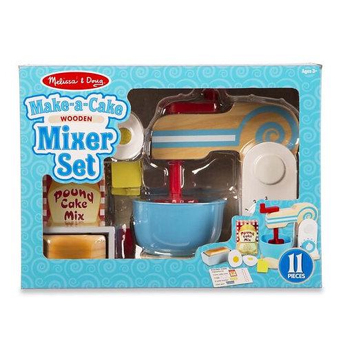Melissa and Doug wooden make a cake mixer set
