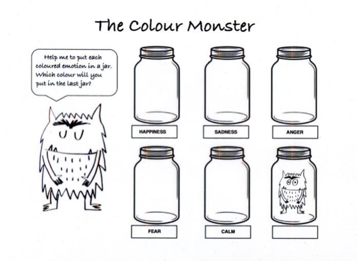 The Colour Monster printable