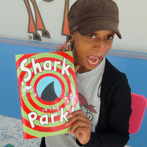 The best book for Story-time! 'Shark In The Park' by Nick Sharratt.