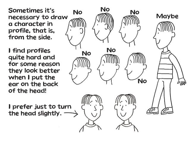How to draw characters. Illustrations. Nick Sharratt. How to draw characters