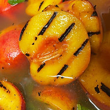 #Grilled #Peach's in #Gazpacho