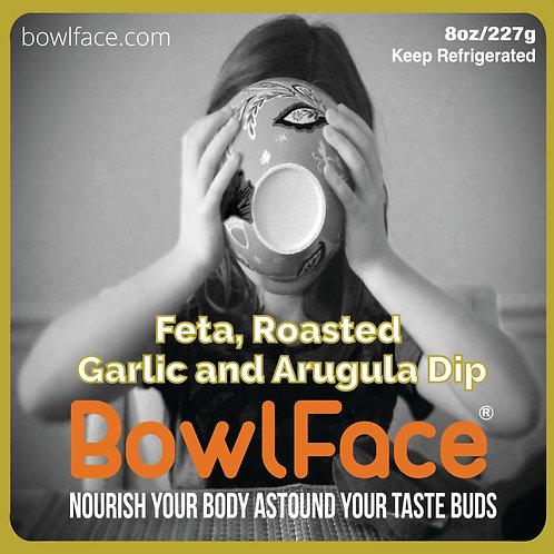 Feta, Roasted Garlic and Arugla Dip